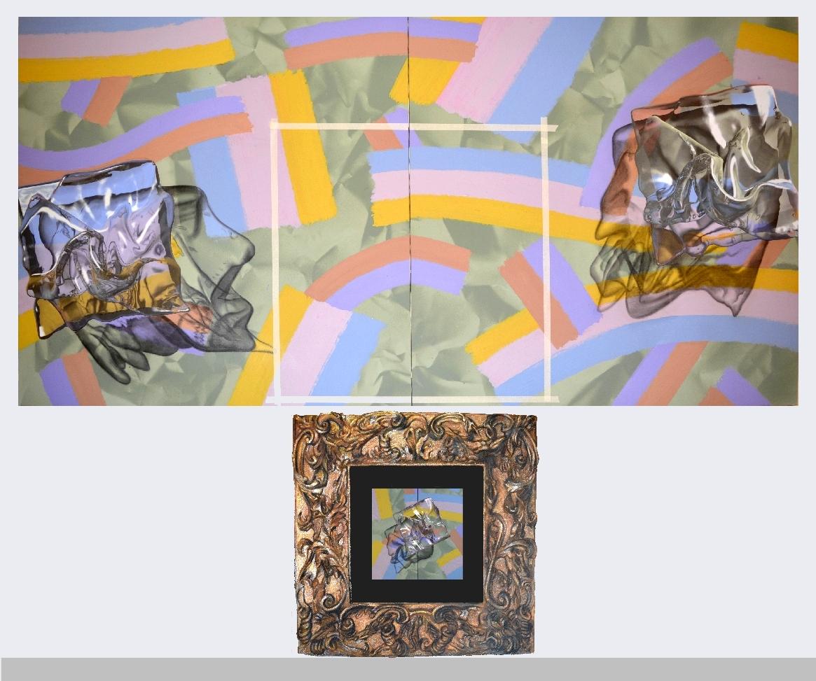 installation, toiles peintes (3m x 1.5m) + animation vidéo